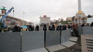 Police man metal barriers