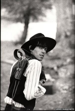"""Keith """"Billy the Kid"""" Richards on Overnight Camp-out, Phoenix Arizona, December 1965"""