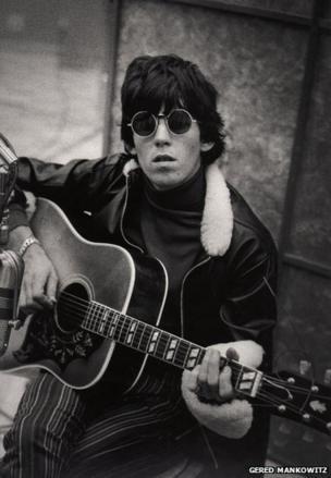 Keith Richards at RCA Studios Recording Aftermath album, Hollywood, December 1965