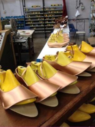 Shoes in factory