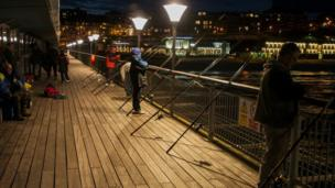 Boscombe Pier Fishing by David Butcher
