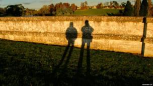 Shadows of a couple