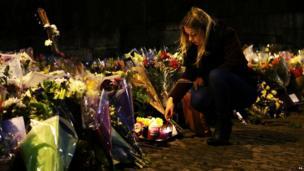Glasgow helicopter crash scene