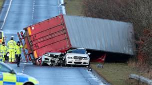 Scene of fatal crash in Bathgate, West Lothian
