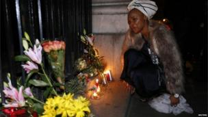 Lungi Morrison, the granddaughter of Archbishop Emeritus Desmond Tutu, in London (5 Dec 2013)