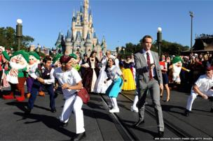 Actor Neil Patrick Harris performs in the Disney Parks Christmas Day Parade