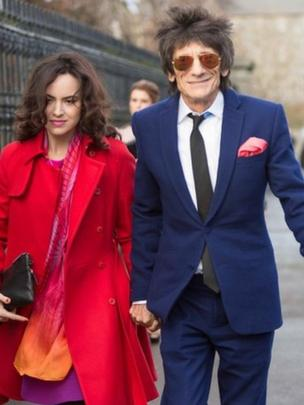 Ronnie Wood and his wife Sally Humphreys
