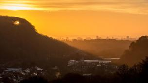 Cardiff at dawn.