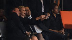 Helle Thorning Schmidt, David Cameron, Barack Obama, Michelle Obama
