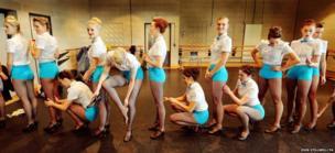 The new Tiller Girls dance troupe