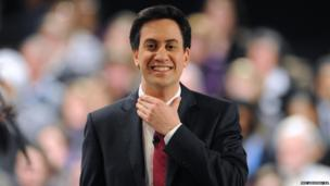 Labour leader Ed Miliband delivers a keynote address during the People's Policy Forum at the Birmingham ICC