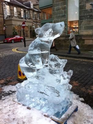 Ice sculpture of a bear