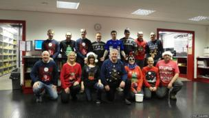 Staff at Dingbro raise money for Save the Children. Photo: Steve Chalmers