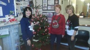 Staff at Priory vets raising money