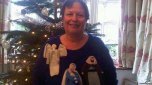 Kristy Thomson's nativity jumper