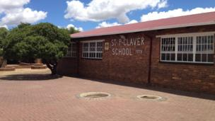 The school that Ricky visited in South Africa