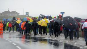 Bad weather at North West 200