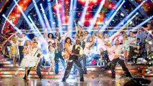 This year's Strictly contestants perform a group routine