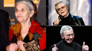 Clockwise from left: Ruth Prawer Jhabvala, George Jones, Roger Ebert