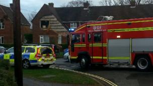 Damaged house in Oakmount Road, Chandlers Ford