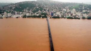The Doce River in Vitoria, Espirito Santo state, Brazil on December 26, 2013.