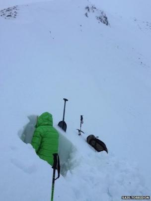 Avalanche assessment in Torridon