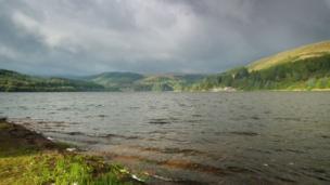 A stormy sky over Pontsticill Reservoir, Merthyr Tydfil