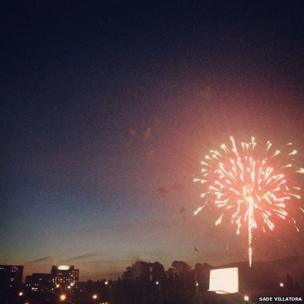 Fireworks in Canberra. Photo: Sade Villatora