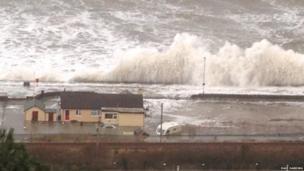 Storm wave at Barmouth, Gwynedd