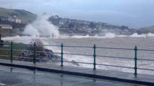 Waves at Criccieth, Gwynedd