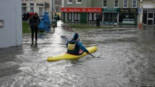 Flooding in Ramsey, Isle of Man