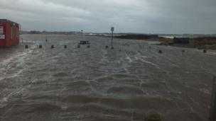 Flooding at Troon