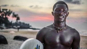 Jahbez on the beach