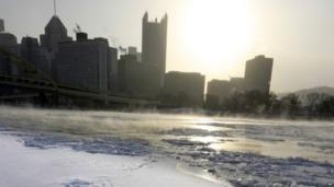 Pittsburgh at dawn on Tuesday