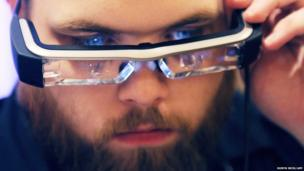 Jeff Boleman tries the Epson Moverio BT-200 smart glasses