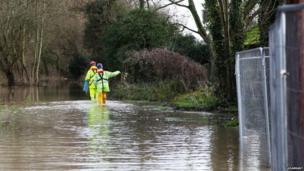 Flooding in Pangbourne