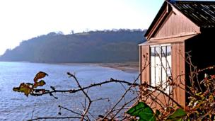 The shed's view overlooking the estuary