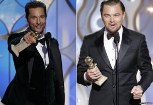 Matthew McConaughey and Leonardo DiCaprio