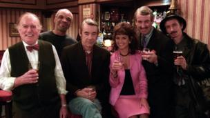 The cast of Only Fools and Horses Christmas Special in 2001