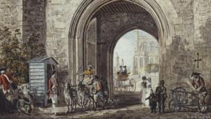 Windsor Castle: Henry VIII Gateway c.1780