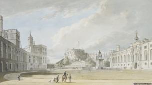 The Quadrangle, Windsor Castle, looking west c.1765