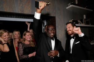 Steve McQueen attends the Fox after party in Beverly Hills, California