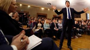 "Ed Miliband, Leader of Britain""s opposition party, the Labour Party delivers a speech on the economy at the University of London"