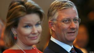 Belgium's King Philippe and Queen Mathilde