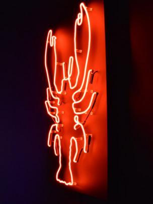 Gavin Turk neon artwork