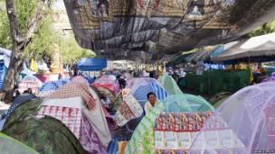 The protest tents of the Royal Pavilion, Bangkok, Thailand. Photo: Adam N Smith