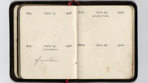 Diary reads: August 24 1918 - operation.