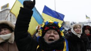Women protest in Kiev (28 January 2014)
