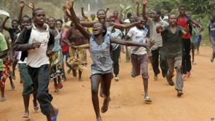 Celebrating Christian residents of Bangui, CAR - Tuesday 28 January 2014