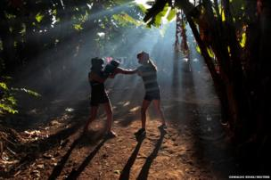 Aspiring boxers exchange punches in Nicaragua